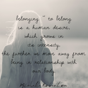 Our Desire To Belong.